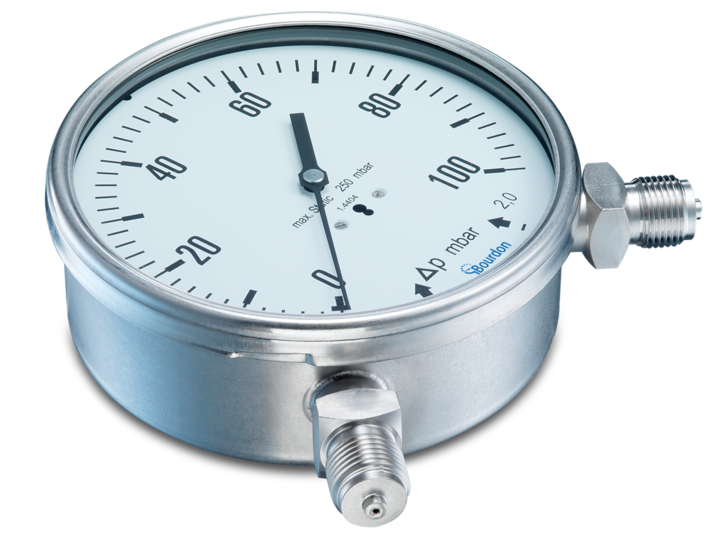 Differential pressure gauges with capsule