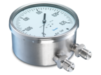Differential pressure gauges with bellow